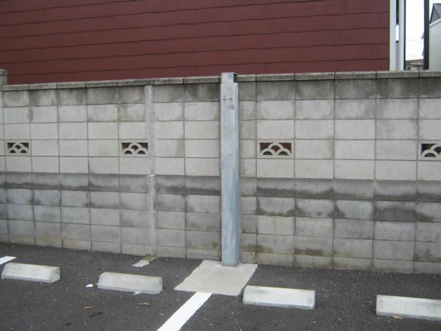 ブロック塀補強工事